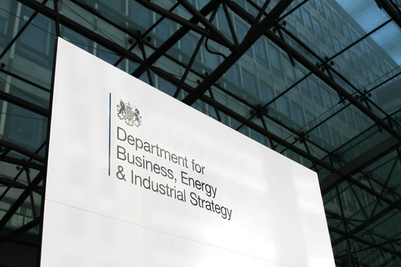 BEIS sign - UK government